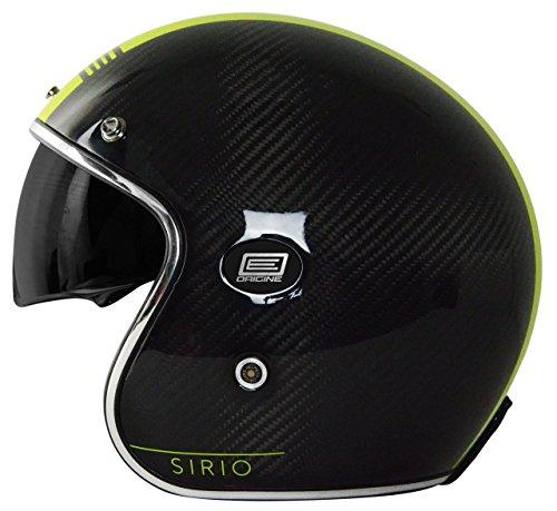 Origine Helmets 202587019200704 Sirio Style Casco Jet in Fibra di Carbonio, Giallo, M
