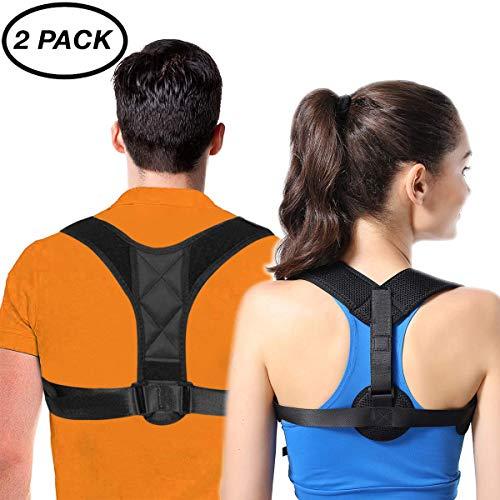 FSACLE Back Posture Corrector for Women & Men + Double Detachable Pads -...