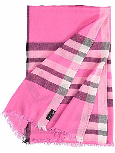 FRAAS XXL-Schal mit Karo-Muster für Damen - aus 100% Viskose - elegantes Mode-Accessoire passend zu jedem Fashion-Stil Pink