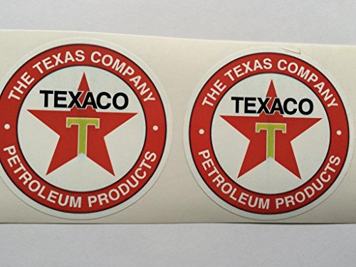 2 Texaco The Texas Company Petroleum Products Die Cut Decals