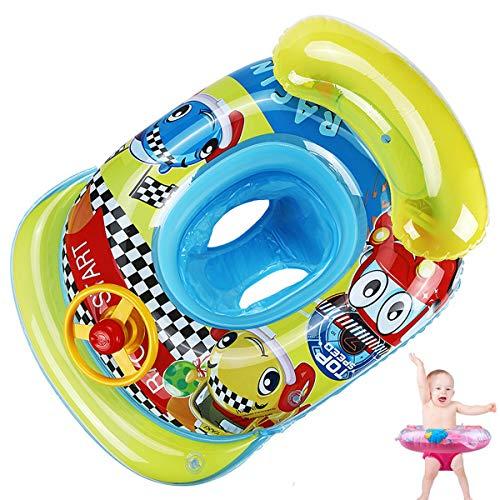 young Forever Baby Schwimmring Aufblasbare aufblasbare Schwimmen Float Kinder Schwimmring Schwimmtrainer Schwimmhilfe für Kinder 1-3 Jahre (Quadrat Auto, Einheitsgröße)