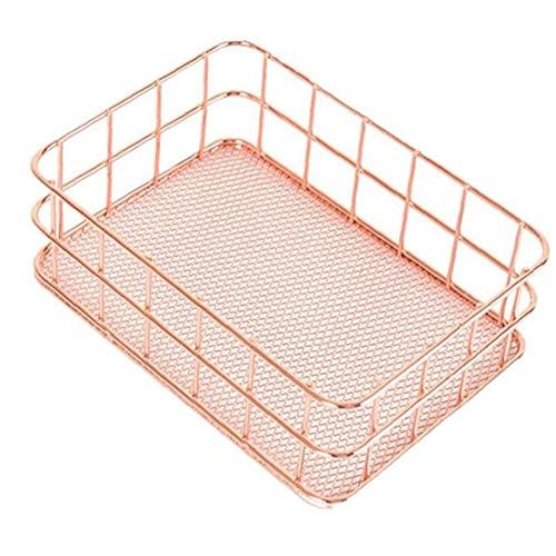 Tuimiyisou De Hierro Forjado Cesta de almacenaje de la Cocina baño Bolsa de cosméticos de Almacenamiento Universal de Almacenamiento en Rack Sencillo diseño del gabinete de Cocina de los hogares
