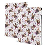 French Bull Dog Pink Blue Case for iPad 8th Generation Case 10.2 inch Smart Cover with Auto Wake/Sleep Slim Stand Hard Back