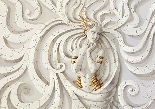 DekoShop Fototapete Medusa Wandtapete - P4 (254cm. x 184cm.) Moderne Wanddeko Design Tapete AMD10211P4 Modern, Kunst, Wohnzimmer Schlafzimmer