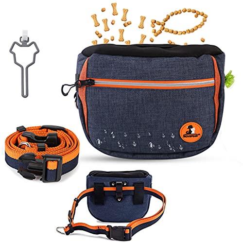 TaimeiMao Hunde Leckerlie Tasche,Futterbeutel Filz Hunde,Hunde Futtertasche Beutel,Wasserdicht Futtertasche, mit Zweischichtiger Abnehmbarer Innenbeutel,für Hundetraining und Futteraufbewahrung