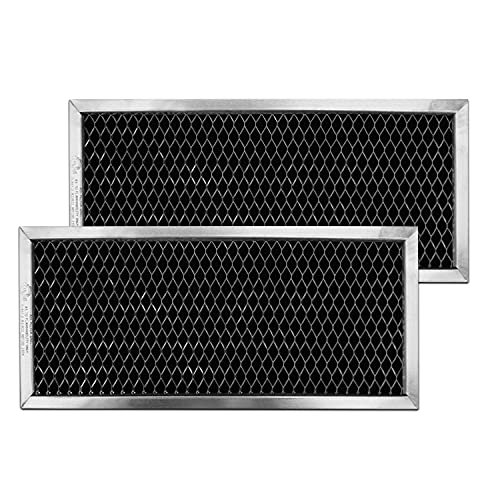 GE JX81H, WB02X10956, WB02X11544, WB2X10956 Microwave Recirculating Charcoal Filter Compatible with GE (2-Pack)