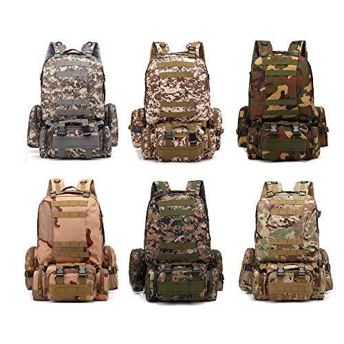 Hcq - Mochila táctica de camuflaje para ejército militar, paquete de asalto de Molle (ACU)