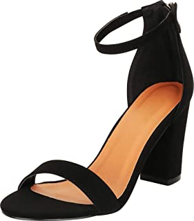 0350a2f8888ce Amazon.com: chunky summer sandals - Black / Shoes / Women: Clothing ...