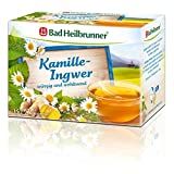 Bad Heilbrunner Kamille-Ingwer Tee, 15er Filterbeutel, 1er Pack (1x 30 g)