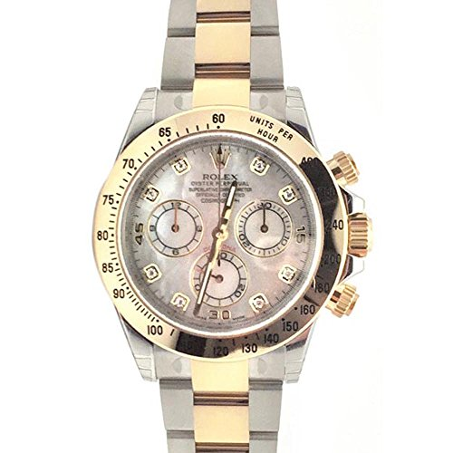 Rolex Cosmograph Daytona 40 Mother of Pearl Diamond Dial Gold Bracelet Watch 116503