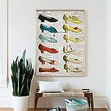 Impresiones En Lienzo, Zapatos Del Siglo Xix, PóSter Vintage, Zapatos, Pintura ArtíStica, Cuadro Para NiñAs, DecoracióN De Pared Para El Hogar, 70x100cm Sin Marco