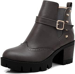 BalaMasa Womens ABS13984 Zipper Fashion Travel Black Leather Boots - 4.5 UK (Lable:38)