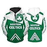 2021 New Season Celtics Sudadera con capucha para jóvenes, edición de icono Swingman, camiseta unisex de manga larga impresa deportiva de moda, camiseta informal suelta (S-5XL) Celtics-XL