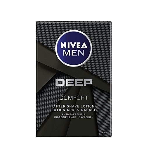 Nivea Men Deep Comfort, After Shave Lotion, Antibakteriell, 1er Pack, (1 x 100ml)