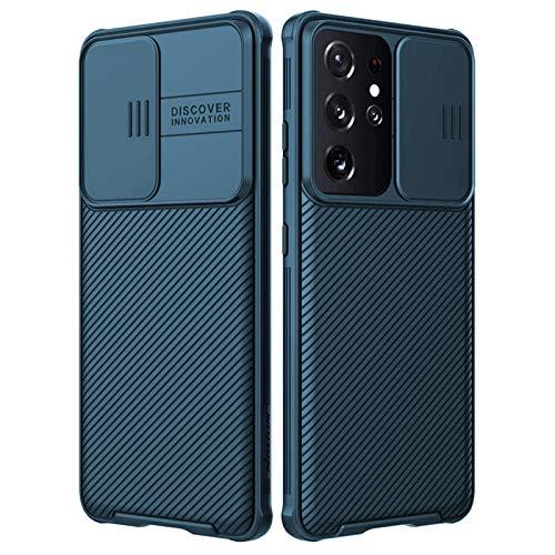 Fadter Für Samsung Galaxy S21 Ultra Hülle Mit kameraschutz, Silikon Handy Hüllen Hülle Für Samsung S21 Ultra Premium Bumper Stoßfest Schutzhülle Für Samsung Galaxy S21 Ultra (Blau)