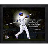 Yasiel Puig Los Angeles Dodgers Pro引用符Framed 12 x 15写真
