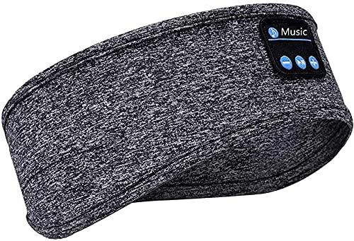 Sleep Headphones Bluetooth Headband, OlYone Wireless Sports Headband Headphones Noise Cancelling Sleeping Headphones Earbuds for Workout, Running,Yoga,Travel, Gift for Mom Women Men Dad (Grey)
