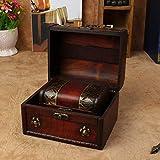 Garre Tlin, 2 unidades, estilo vintage, de madera, para joyas, collares, pulseras, gabinete, caja de almacenamiento, caja de tesoro, 2 unidades