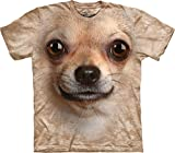 The Mountain Kinder Chihuahua Face Kids Tee T-Shirt, Sand, M