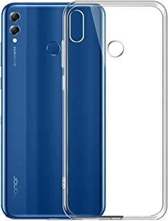 Huawei Honor 8X (6.5) TPU Silicone Soft Thin Back Case Cover For Honor 8X Clear Cover