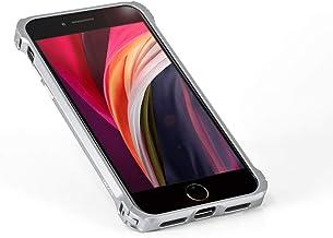 """DECASE for iPhone SE 2020""""4.7"""" / iPhone 8 アルミニウム バンパー ケース 取付工具不要・簡単ワンタッチ脱着 アイフォンSE ディケース (シルバー)"""