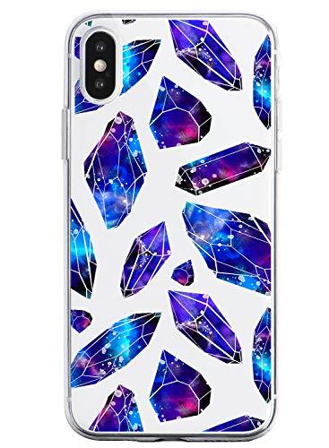 Oihxse Funda Dibujos Diamantes Brillantes Compatible Xiaomi Redmi K30/K30 Pro Transparente Silicona TPU Bumper Case Ultra Delgado Crystal Clear Anti-Choques Carcasa Protectora Cover(A7)