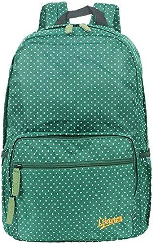 Nylon wasserdicht Double Shoulder Bag Outdoor Bergsteigen Tour Pack Rucksack College wind student Schultasche, Größe Welle Punkt