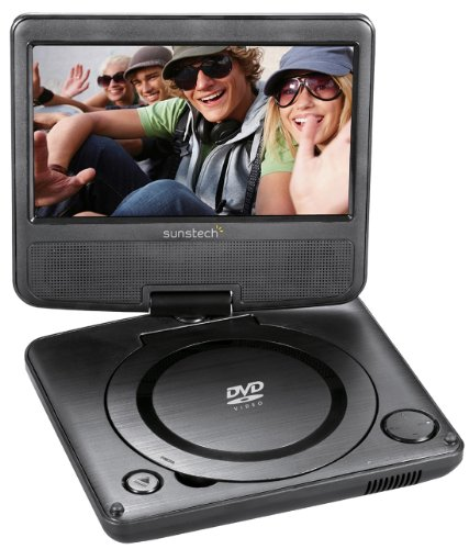 Sunstech DLPM728BK - Reproductor portátil de DVD (abatible, USB), color gris oscuro