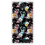Hapdey Funda Transparente para [ Energy Phone MAX 4G ] diseño [ Patrón Floral, Flores Multicolores ] Carcasa Silicona Flexible TPU