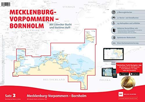 Sportbootkarten Satz 2: Mecklenburg-Vorpommern - Bornholm (Ausgabe 2020): Mit Lübecker Bucht und Stettiner Haff