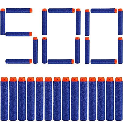 SHS-Yard 500 Darts Pfeile für Nerf Zubehör 7.2cm Pfeile Refill Bullets Darts - geeignet für N-Strike / Elite / X- Shot Blasters Spielzeugpistole Blau Orange Dart Blaster