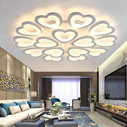 Weiße oberflächenmontierte moderne Kronleuchter LED für Wohnzimmer Esszimmer Schlafzimmer Küche Lampe LED Kronleuchter Beleuchtungskörper, weiße Arme, 9 Arme
