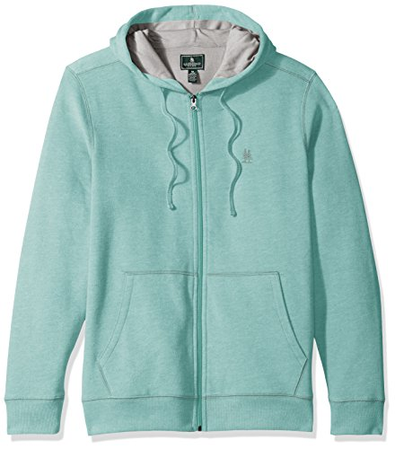 G.H. Bass & Co. Men's Explorer Sueded Fleece Long Sleeve Hoodie Jacket, Large, Agate Green