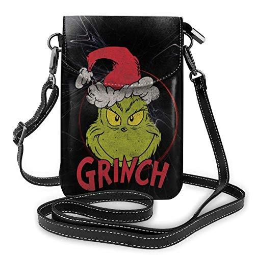 DR. Seuss Grinch Weihnachtsfrau Mädchentasche Kleine Schultertasche Brieftasche