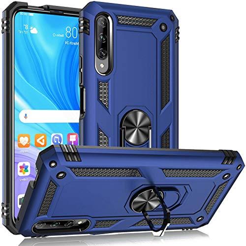 Fetrim Hülle Kompatibel für Honor 9X PRO, doppellagig stoßfest Schutzhülle mit Drehring Ständer für Huawei P Smart Pro 2019/Honor 9X Pro Navy blau