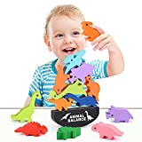 LET'S GO! Dinosaur Toys for Kids 3-5, Montessori Toys for Balance Training Dinosaur Stacking Toys for Kids 3-7 Year Old Ideal Birthday for Boys