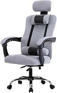 Furniture Stool Comfortable Reception Chairs Ergonomic Office Chair  High-Back Mesh Computer Desk Chairs  Flexible Swivel Task Chair with Adjustable Height and Lift Armrest  Turnable Headrest and