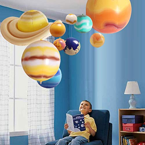 10 STÜCKE Sonnensystem Lehre Modell Luftballons Simulation Neun Planeten Im Sonnensystem Kinder Pädagogisches Aufblasbares Spielzeug Glow In The Dark