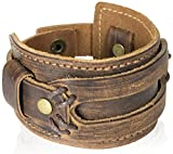 Tundra Jewelry The Most Comfortable Genuine Leather Cuff Bracelet, Brown