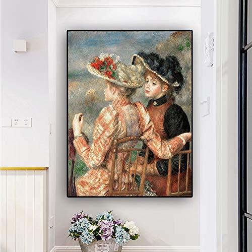 wZUN Pintura al óleo Lienzo reproducción Carteles e Impresiones nórdico Sala de Estar Arte Pop Cuadros de Pared 60x80 Sin Marco