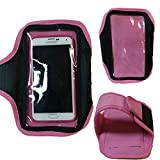 Pink Armband Exercise Workout Case for Straight Talk ZTE Whirl 2 z667g. Fits Arms up to 12 inches big.