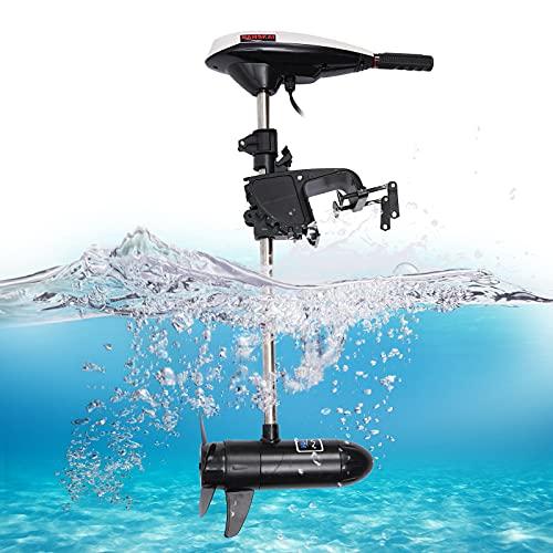 Fetcoi Moteur électrique hors-bord 45 lbs 660 W pour bateau pneumatique