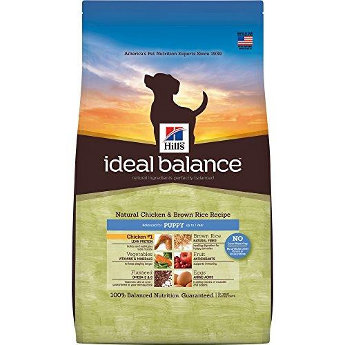 Hill's Ideal Balance Puppy Natural Hundefutter, Huhn & Brown Rice Rezept Trockenfutter für Hunde, 5,7 kg Beutel