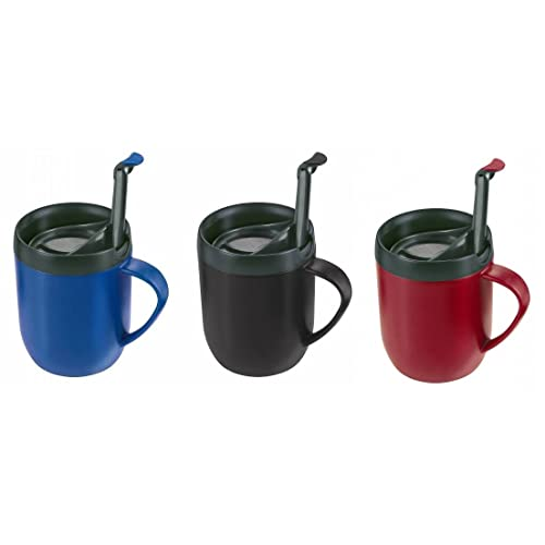 a2392dbacba 3 X ZYLISS SMART CAFE ONE CUP COFFEE CAFETIERE HOT MUG BLUE RED & BLACK