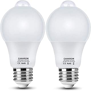Motion Sensor Light Bulb,Canagrow 12W (120-Watt Equivalent) PIR Motion Sensing Activated LED Bulb,E27 1100 Lumens Motion Detector Bulbs Outdoor Indoor Light for Porch, Garage etc (Cool White 2 Pack)
