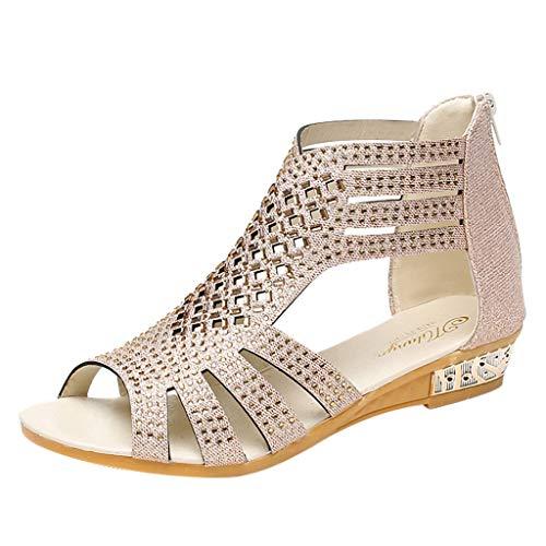 PPangUDing Sandalen Slides flache Schuhe...