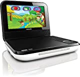 Philips PD703/37 7-Inch LCD Portable DVD Player with Wireless Game Controller, White