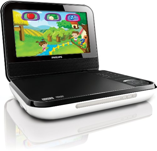 Best Review Of Philips PD703/37 7-Inch LCD Portable DVD Player with Wireless Game Controller, White