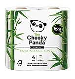 The Cheeky Panda - 4 Rollos de papel higiénico de bambú sostenible y lujoso