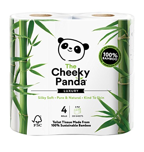 The Cheeky Panda Luxus Bambus Toilettenpapier 4 Papierrollen